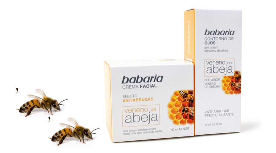 Babaria veneno abeja dentro